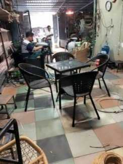 Thanh lý bộ bàn ghế giả mây cafe giá sỉ