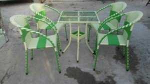 Bộ bàn ghế cafe nhựa giả mây giá rẻ, giá sỉ