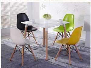 Ghế nhựa cafe chân gỗ, ghế có nhiều màu sắc