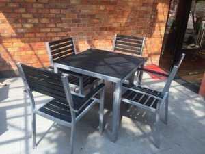 Bàn ghế giả gỗ cho quán ăn, quán cafe giá sỉ, giá xưởng