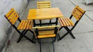 Bộ bàn ghế gỗ sang trọng cho quán ăn, nhà hàng