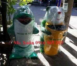 Thùng rác gấu trúc thùng rác cá heo