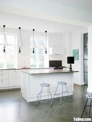 Tủ bếp gỗ Acrylic thiết kế đơn giản hiện đại – TBT93
