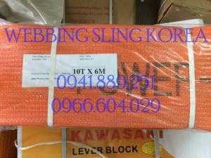 Dây cáp cẩu hàng 10 Tấn dài 6M chính hãng EASTERN Hàn Quốc. Giải pháp cẩu hàng hóa an toàn, hiệu quả