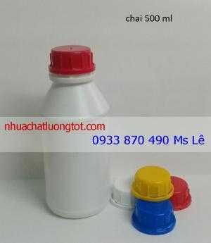 Chai lọ nhựa đựng hóa chất 1000 ml,  bình đựng hóa chất 500 ml,  chai nhựa HDPE 250 ml