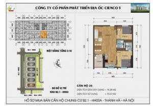 Bán căn 26 diện tích 78,28 m2, HH03-B2.1 Thanh Hà Cienco 5.