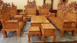 Bộ bàn ghế hoàng gia mặt liền tấm,dày 3 phân