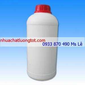 Vỏ chai nhựa hdpe 1 lít, vỏ chai nhựa đựng thuốc sâu 500 ml, chai nhựa đựng thuốc tẩy 250 ml tphcm