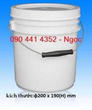 Thùng nhựa 3.8 lít đựng sơn nhà, thùng sơn nhựa 5 lít. Sản xuất vỏ thùng sơn 10 lít, thùng sơn 12 lít