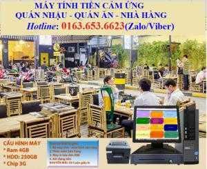 Máy tính tiền trọn bộ giá rẻ cho mô hình quán nhậu tại Tiền Giang