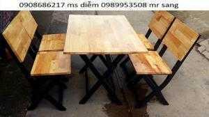 Bàn ghế gỗ cafe hgh01