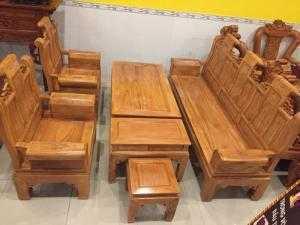 Bộ bàn ghế gỗ gõ đỏ Tầng Thủy Hoàng tay hộp-BBG311 - Đồ Gỗ Sơn Đông