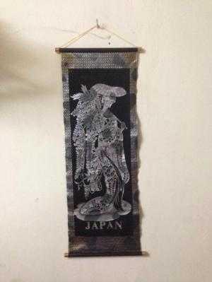 Dọn nhà thanh lý tranh vải treo tường Nhật, kt 30x80cm trang trí nhà ngày Tết, giá 200k.