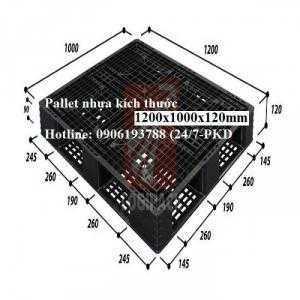 Pallet nhựa cũ 1200x1000x120mm