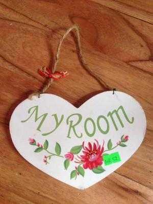 Biển phòng My Room gỗ tự nhiên mới 100%, cao 13cm rộng 20cm, giá siêu thị 199k giá thanh lý 50k