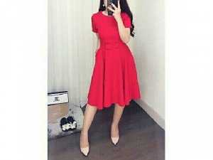 Đầm maxi đỏ