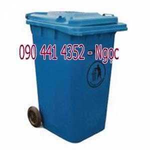 Thùng rác nhựa công cộng 120 lít, thùng rác 240 lít màu đen, thùng rác y tế 120L, thùng rác công nghiệp