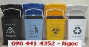 Thùng đựng rác trong ngành y tế, thùng rác 15 lít có chân đạp, thùng 20 lít đựng rác trong bệnh viện