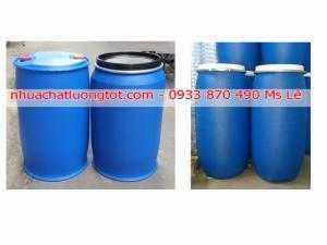 Thùng phuy nhựa 150 lít, thùng phuy nhựa 220 lít giá rẻ, thùng phi xanh cũ đã qua sử dụng 220 lít