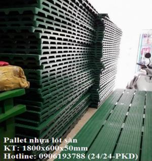 Pallet nhựa lót sàn 1800x600x50mm