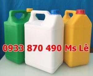Can nhựa đựng hóa chất, can nhựa đựng thực phẩm, can 5 lít đựng thuốc hóa học, can 4 lít đựng thuốc sâu