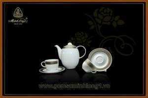 Bộ trà 0.8L Hoa Hồng 01080101703 gốm sứ Minh Long 1