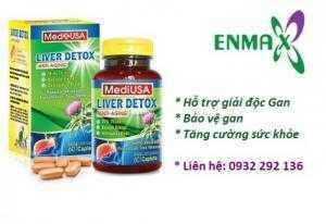 Liver Detox Tăng cường chức năng gan, tái tạo và bảo vệ tế bào gan từ Mỹ