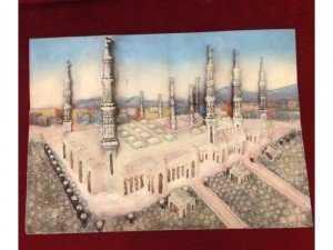 Phù điêu composit toà thánh đường Hồi giáo Turkey nguyên bản, màu thực tế
