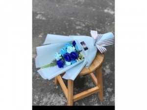 Quà tặng ngày lễ hoa hồng sáp thơm Vĩnh cửu 11 bông
