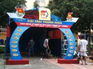 Thiết kế cổng trại sinh viên, cho thuê cổng trại giá rẻ tại Hà Nội