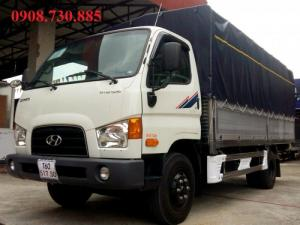 Xe tải HD99 thùng mui bạt thùng bửng nhôm