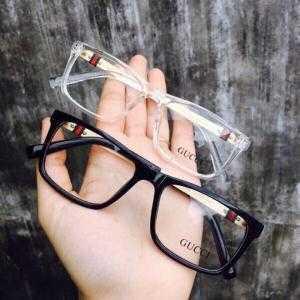 Mắt kính giả cận gọng kim Gucci