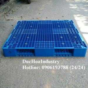 Pallet nhựa cũ tại Long An 1100x1100x120 mm