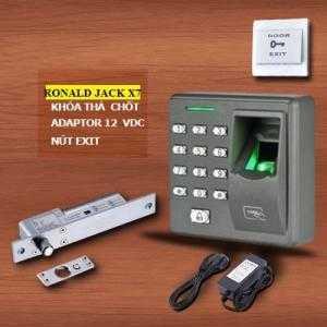Kiểm soát cửa ra vào vân tay/ thẻ/ pass không phần mềm Ronald X7 giá rẻ