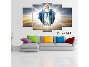 Tranh ghép bộ 5 bức phong cảnh Đức Mẹ