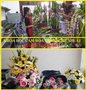 Lớp dạy cắm hoa mở shop/học cắm hoa nghệ thuật