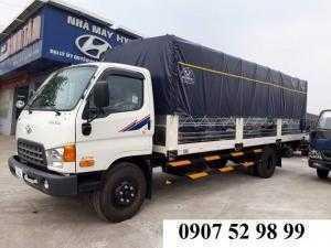 Xe tải Hyundai HD120SL thùng mui bạt 8,1 tấn thùng 6m3 tại An Giang, Trà Vinh, Đồng Tháp, Kiên Giang