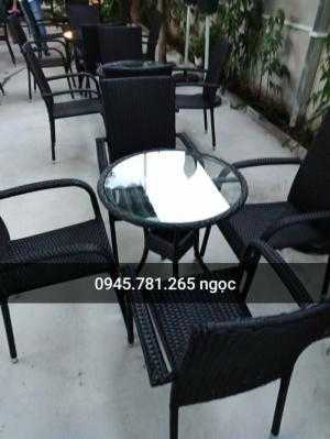 Bàn ghế cafe mây nhựa , hàng xuất khẩu giá...