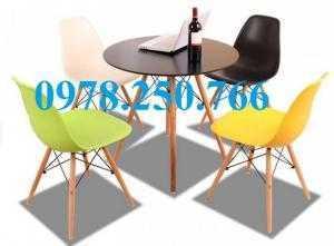Ghế nhựa chân gỗ - ghế eames