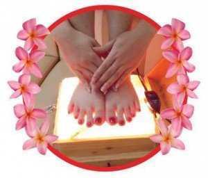 Đá muối massage chân Himalaya