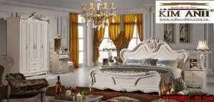 Giường ngủ cổ điển TPHCM, bộ phòng ngủ cổ điên giá rẻ