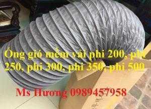 Ống gió vải Simili, ống gió mềm vải, ống gió mềm lò xo lõi thép, ống hút khí, ống hút bụi... phi 75 đến phi 500