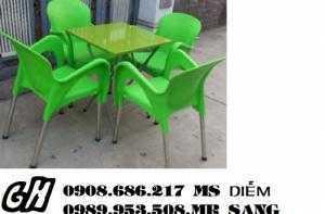 Ghế nhựa trà sữa hgh025