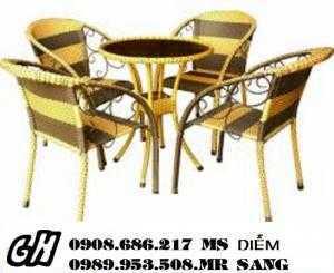 Chuyên sản xuất bàn ghế cafe giá rẻ nhất hgh034