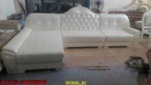 Xưởng sản xuất bộ bàn ghế gỗ tân cổ điển chữ l nhỏ gọn ms SFCĐGL_81 - nội thất Kim Anh