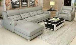 Sofa phòng khách cao cấp bọc da giá rẻ - xưởng sản xuất sofa giá rẻ nhất tại HCM