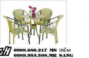 Bàn ghế cafe sân vườn hgh034