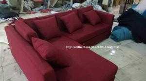 Sofa góc L bọc vải bố sang chảnh (theo kích...