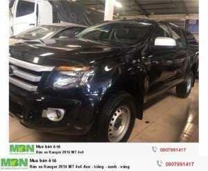 Bán xe Ranger 2014 XL MT 4x4 đen - trắng -...