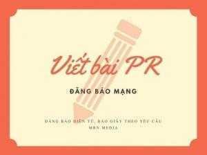 Viết bài PR trên báo mạng